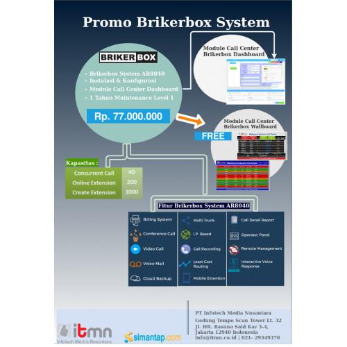 Paket Brikerbox System AR8040 dan Dashboard Free Module Wallboard