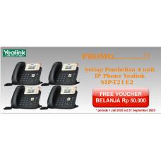 Paket 4 unit Yealink SIP T21 E2 (non PoE)