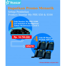 Paket MyPBX Yeastar S100 Free IP Phone
