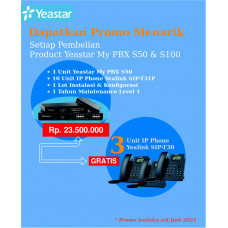 Paket MyPBX Yeastar S50 + IP Phone dan Free IP Phone