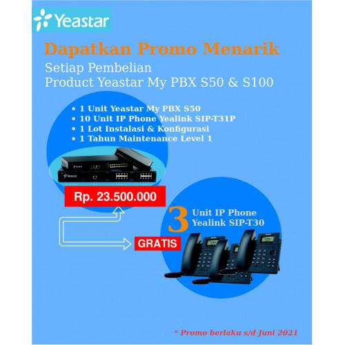 Paket MyPBX Yeastar S100 + IP Phone dan Free IP Phone