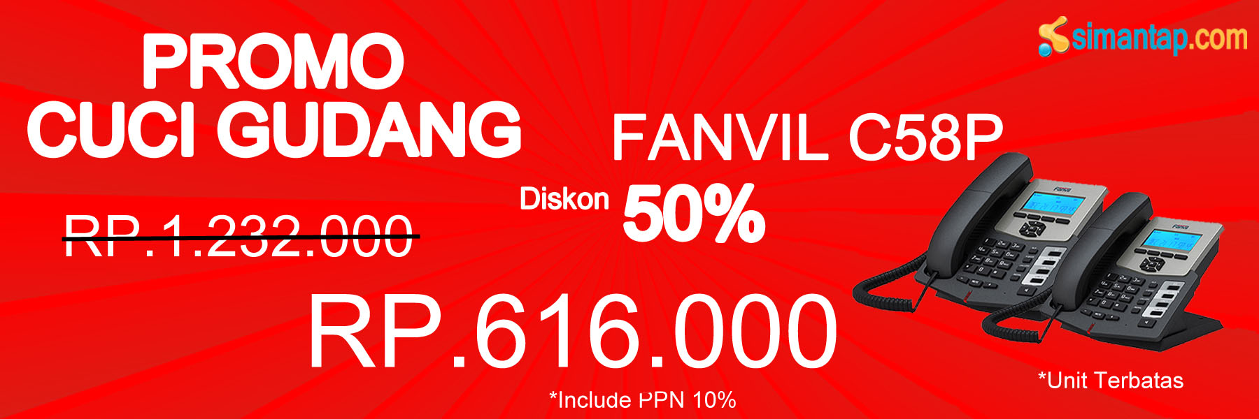 Promo Fanvil C58P