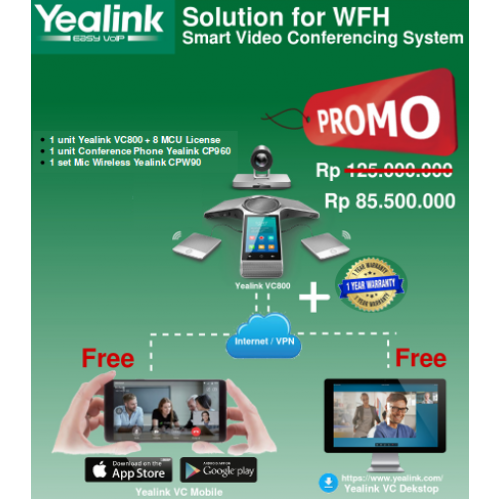 Paket WFH Video Conference System VC800