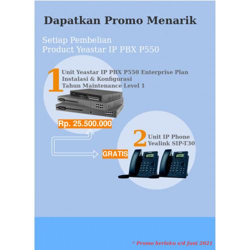 Paket  IP PBX Yeastar P550 Enterprise Plan Free IP Phone