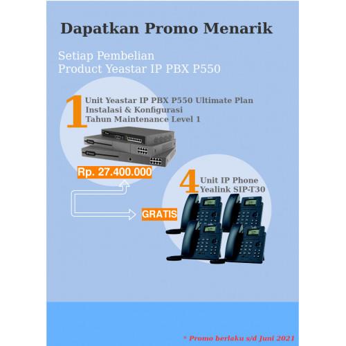 Paket IP PBX Yeastar P550 Ultimate Plan Free IP Phone