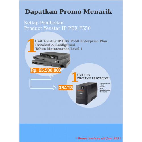 Paket IP PBX Yeastar P550 Enterprise Plan Free UPS