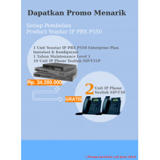 Yeastar P550 Enterprise Plan dan IP Phone Free IP Phone