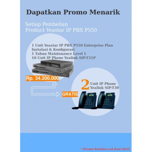 Yeastar P550 Enterprise Plan dan IP Phone Free IP Phone