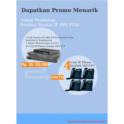 Yeastar P550 Ultimate Plan dan IP Phone Free IP Phone